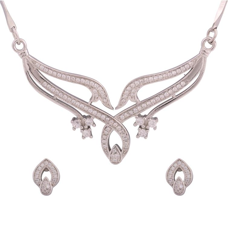 CZ Necklace | divinejewelsindia