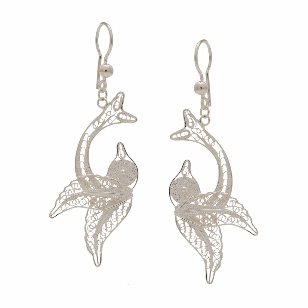 Filigree Silver Earrings | divinejewelsindia