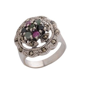 Marcasite Multicolor Ring