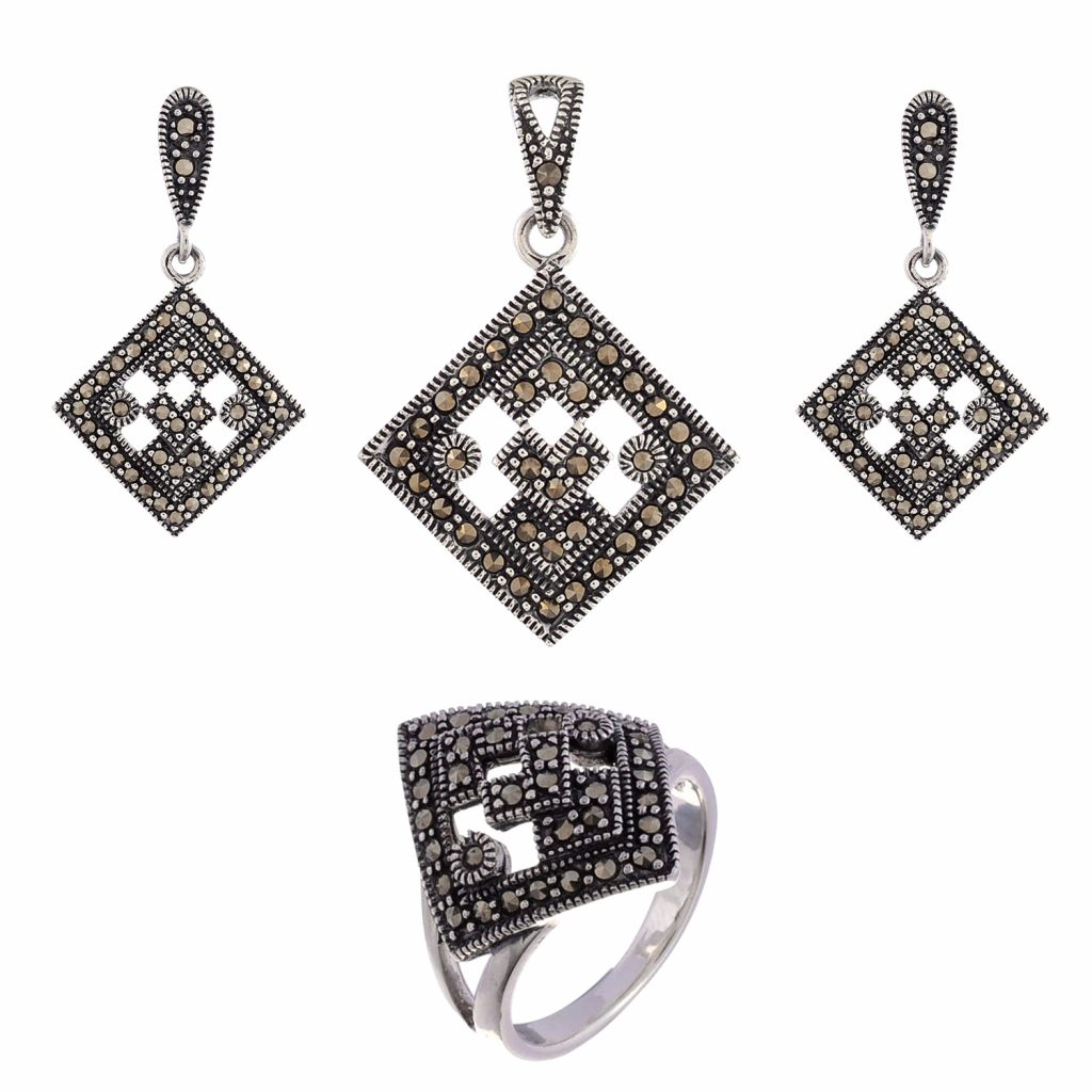 Exclusive marcasite pendant set divine jewels exclusive marcasite pendant set aloadofball Images