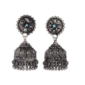 Antique Oxidized Earrings | Oxidized Jhumkas