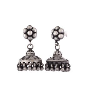 Antique Oxidised Silver Vintage Jhumkis