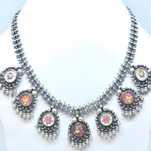 Antique Silver MultiCharm Necklace