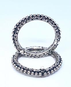 Antique Silver Oxidized Bangles