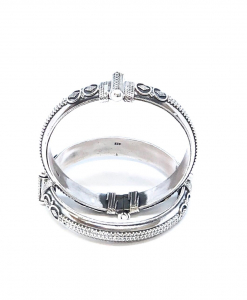 Antique Silver Sleek Bangles