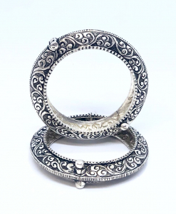 Antique Silver Oxidized Bangles