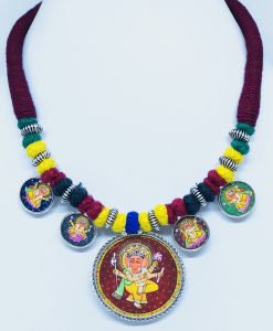 Exclusive Lord Ganesha Painting Necklace
