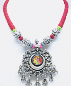 Exclusive Radha Krishna Painting Necklace