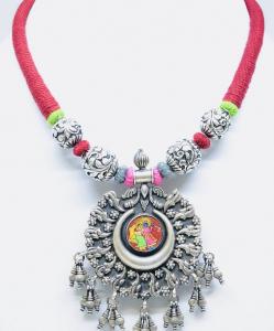 Exclusive Radha Krishna Painting Necklace