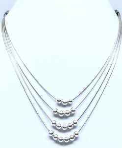 Multiple Lining Silver Necklace