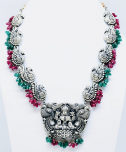 Exclusive Red and Green Temple Necklace