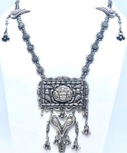 Antique Oxidized Bird Necklace