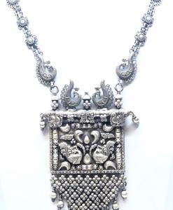 Antique Oxidized Peacock Necklace
