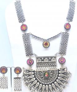 Antique Oxidized Colorful Necklace Set