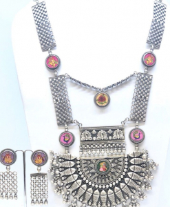 Antique Oxidized Colorful Necklace Set