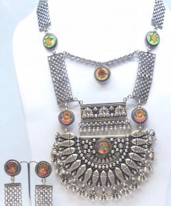 Antique Oxidized Heavy Necklace Set