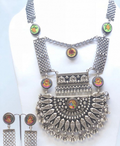 Antique Oxidized Heavy Necklace Set