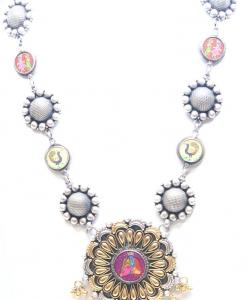 Antique Oxidized Beautiful Colored Necklace