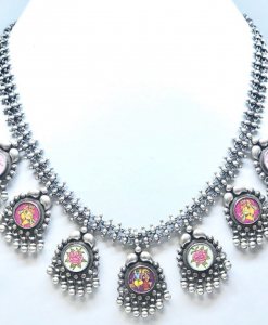 Antique Silver MultiCharm Necklace