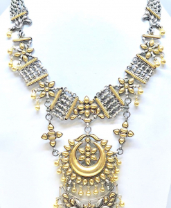 Antique Silver Gold Plated Necklace