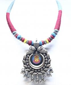 Antique Silver Ganesha Necklace