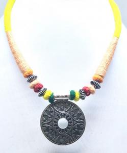 Antique Silver Oxidized Necklace