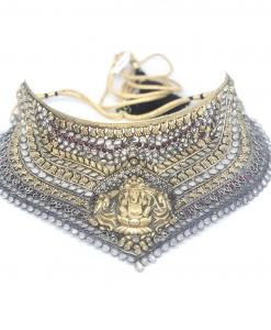 Antique Silver God Choker Necklace