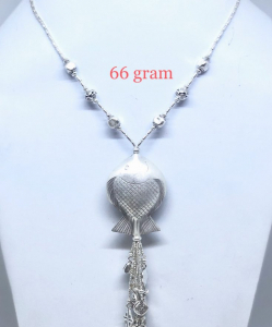 Antique Silver Fish Style Chain Necklace