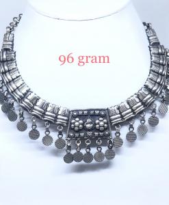 Antique Silver Light Weight Choker Necklace