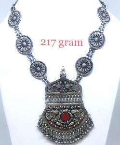 Antique Silver Colored NecklaceV