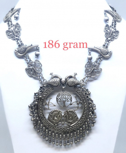 Antique Silver Bird and Butterfly Necklace