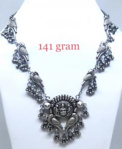 Antique Silver Birds Necklace