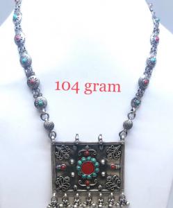 Antique Silver designer Colorful Necklace