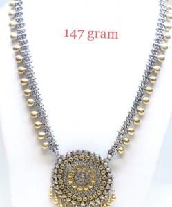 Antique Silver two Tone Designer Necklace