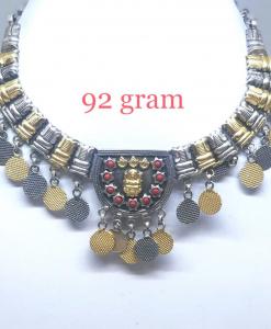 Antique Silver Light Weight Designer Choker Necklace