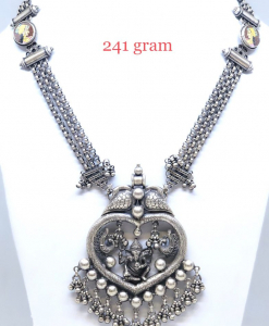 Antique Silver Designer Lord Ganesha Necklace