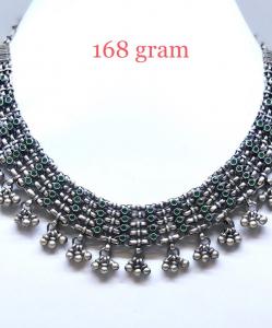 Antique Silver Designer Choker Necklace