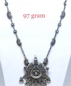 Antique Silver Light Weight Flower Necklace
