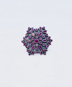 Exclusive Cut Stone Purple Ring