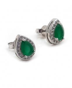 CZ Green Stone Earring