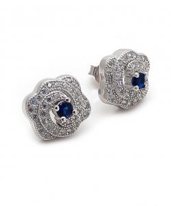 CZ Blue Stone Earring