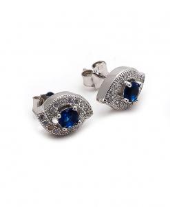 CZ Blue Stone Stud Earring