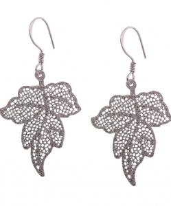 Beautiful CZ Leaf Earrings