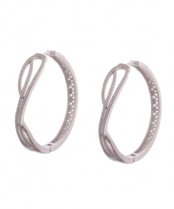 Cubic Zirconia Hoops for Women