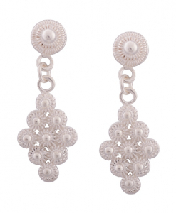 CZ Hanging Earrings studded with Pearl
