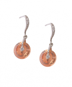 Cubic Zirconia Circle Earring