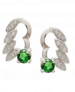 CZ Beautiful Green Earrings