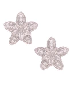 CZ Flower and Star Studs