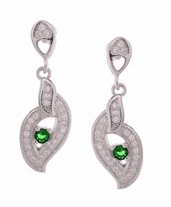 CZ Green Hanging Earring