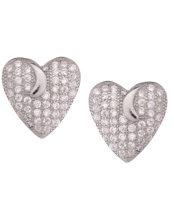CZ Beautiful Heart Studs